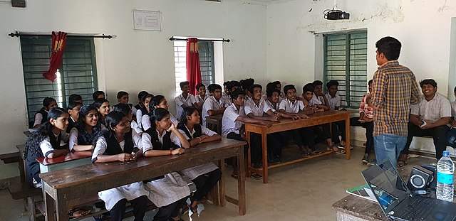 Introduction to Wikipedia at Government Higher Secondary School, Mathirappilly