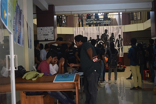 Wikimedia Exhibition and Stall at Dhishna Tech Fest, Cochin University of Science and Technology, Kochi
