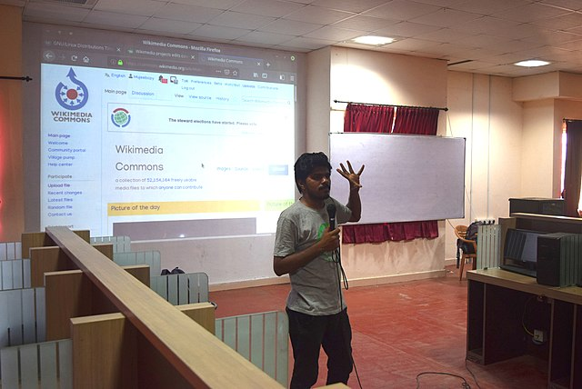 Introduction to Wikipedia at Ahalia School of Engineering and Technology, Palakkad