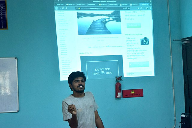 Introduction to Wikipedia at  College of Engineering, Karunagappally